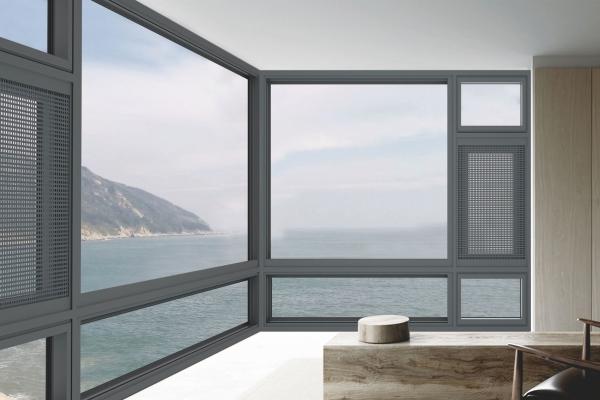 铝合金系统窗纱窗一体外开私人订制