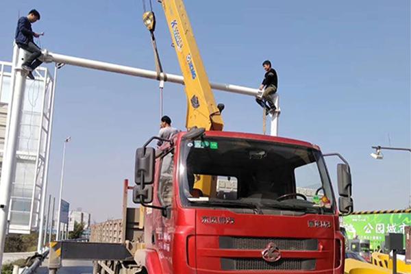 鄭州T型監控桿報價,公路監控桿加工廠