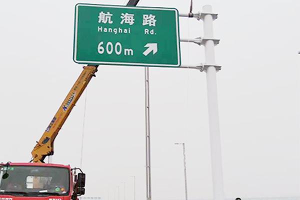 鶴壁雙柱式交通標志桿批發,道路交通標志桿廠家