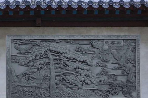威海仿古铜浮雕影壁墙制作