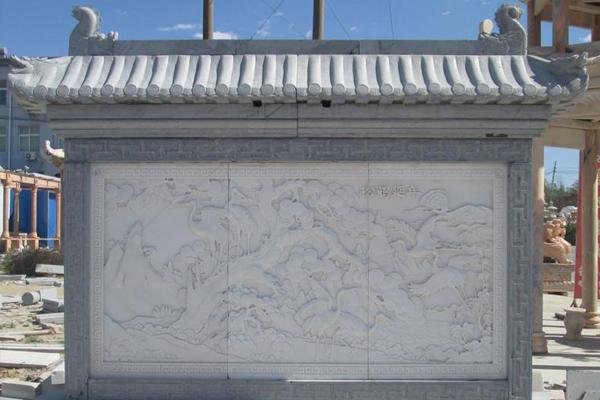 烟台玻璃钢浮雕影壁墙制作
