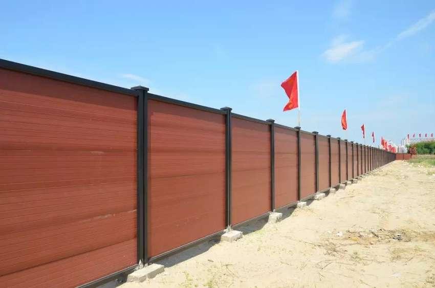 围挡厂家-围墙厂家-木塑钢板钢结构围挡厂家选择欣源围挡
