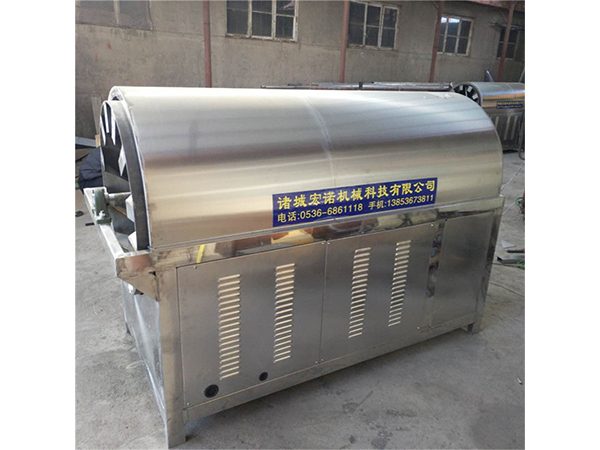 江西卧式豌豆电磁连续滚筒炒炉厂