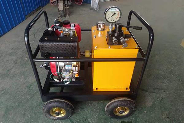 山东J系列机动泵站厂家 文庆柴、汽油机驱动液压泵站加工制造