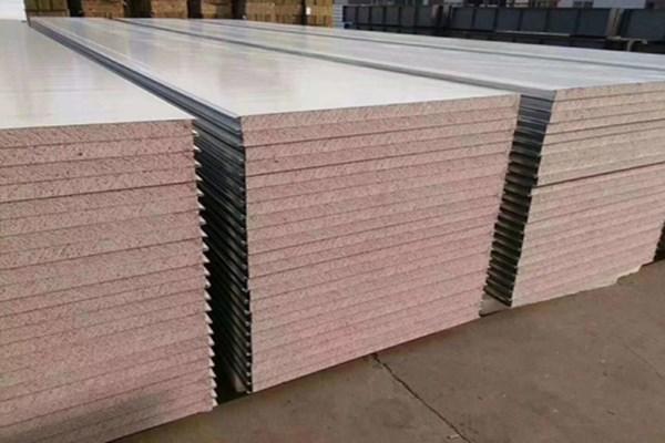 昌樂巖棉彩鋼凈化板銷售,巖棉凈化彩板定制