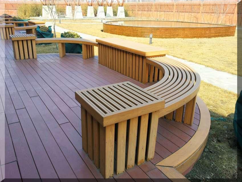 木塑材料木塑地板木塑栏杆产品批发定制木塑葡萄架找欣源木塑
