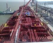中东波斯湾铁矿水渣船