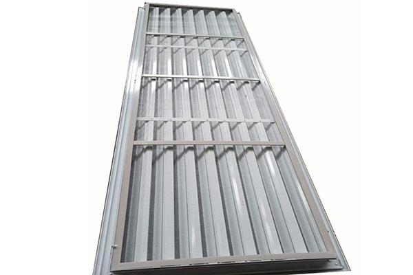 诺凌水平防雨百叶加工 铝合金材质地下管廊水平防雨通风百叶