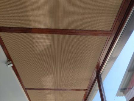 青州阳光房手动式遮阳蜂巢帘价格
