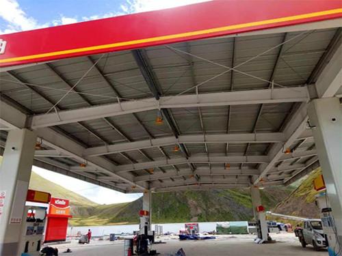 加油站网架罩棚