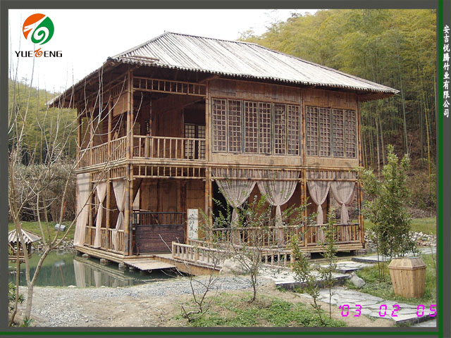 手绘傣族小 竹屋
