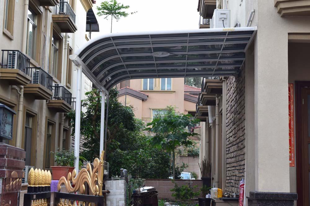 铝合金欧式露台花园遮阳遮雨棚阳台庭院雨搭户外凉亭