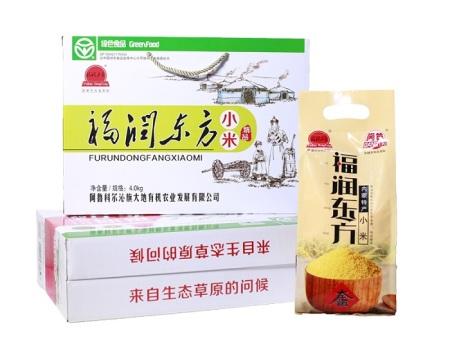 福潤東方小米,金苗有機小米禮盒就選內蒙古真人视讯有機發展公司